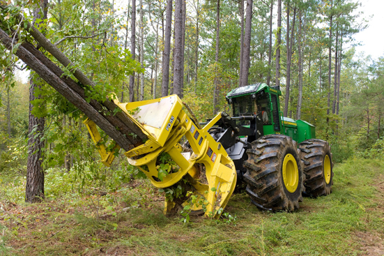 Tractor Man On Cutting Trees : John deere introduced new fd disc saw felling head