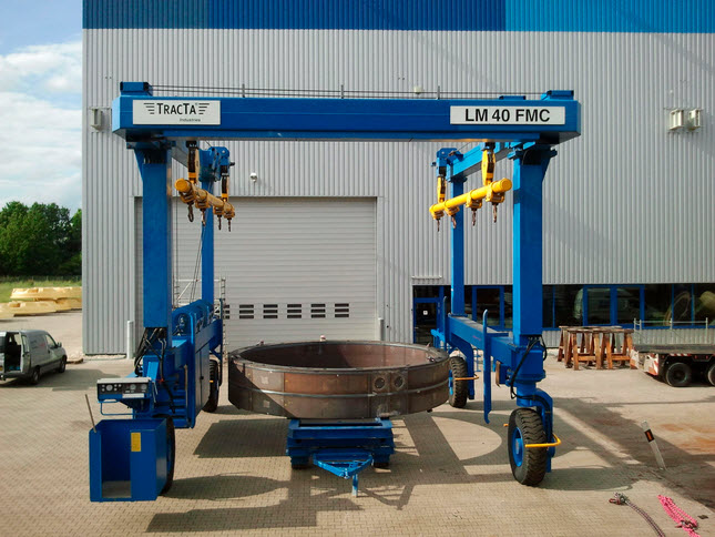 Gentry overhead bridge crane