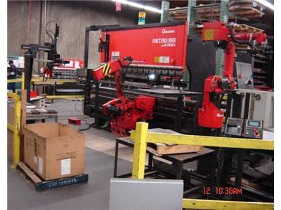 138 Ton Amada 8-Axis CNC Robotic Bending Cell
