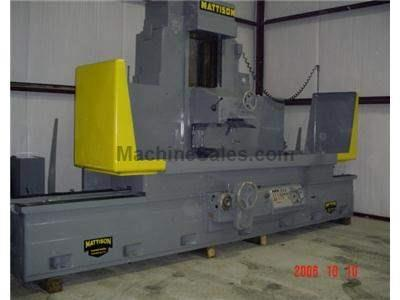 "24"" x 96"" Used Mattison Horizontal Surface Grinder"