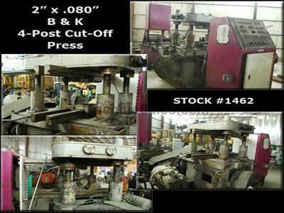 "2"" x .080 B & K 50 Ton 4-Post Cut Off Press"