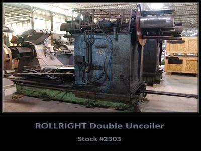 5,000 Lb. ROLL RIGHT Double Uncoiler