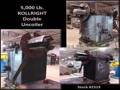 5,000 Lb. ROLLRIGHT Double Uncoiler