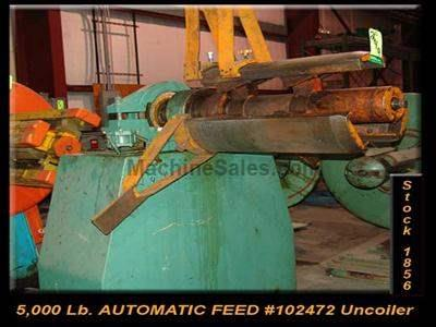 "10,000 Lb. x 18"" AUTOMATIC FEED #102472 Uncoiler"