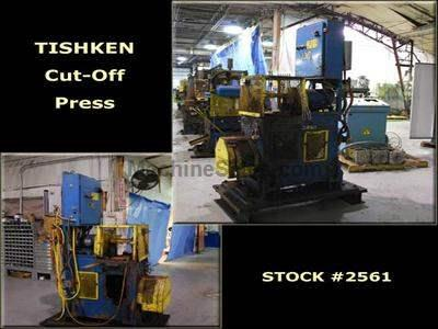 12 Ton TISHKEN 2-Post Cut-Off Press