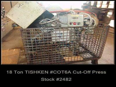 18 Ton TISHKEN #COT6A Cut-Off Press