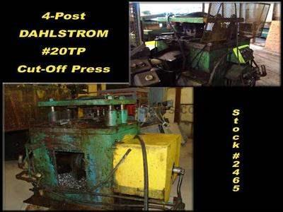 20 Ton 4-Post DAHLSTROM #20TP Cut-Off