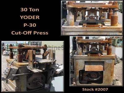 30 Ton YODER P-30 Cut-Off Press