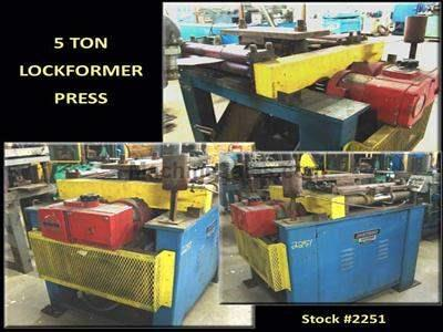 5 Ton LOCKFORMER Press