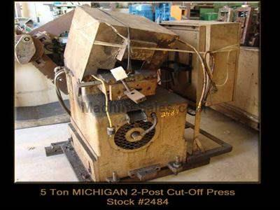 5 Ton MICHIGAN 2-Post Cut-Off Press