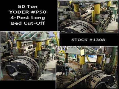 50 Ton YODER 4-Post P-50 Long Bed Cut-Off