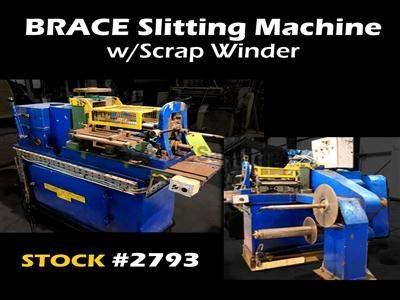 "13-1/2"" x 28"" x 5,000 Lb. BRACE #1A Slitting Machine"