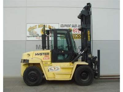19000LB Forklift, Pneumatic Tires, Dually, 212.5 Inch Lift, Side Shift, Diesel, Low Hours