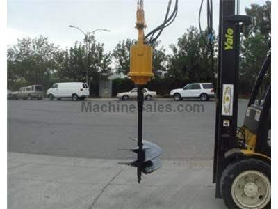 Backhoe Auger Attachment, Hydraulic Drive