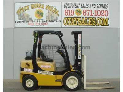 6000LB Forklift, OSHA Compliant, Tier 3, 3 Stage, Side Shift, Solid Pneumatic Tires