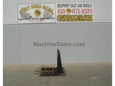 Fork Attachment for Skid Steers, New Backing Plate, Used Forks