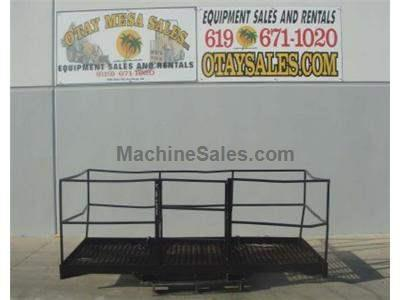 4x10 Foot Work Platform, Enclosed Basket