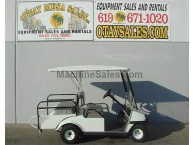 4 Seat Electric Cart, with Flip Down Tail Bed, On Board Charger, Turf Tires