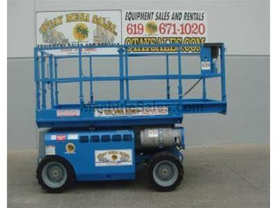 Rough Terrain Scissor Lift, 32 Foot Working Height, Deck Extension, Dual Fuel, Power to Platform