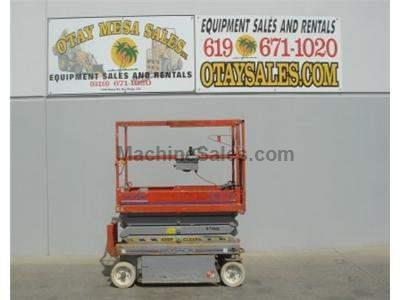 Electric Scissor Lift, Narrow 32 Inch Width, 25 Foot Working Height, Includes New Paint