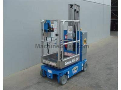 Single Man Lift, 26 foot Working Height, Self Propelled, 500lb Capacity, Compact Design 2.5 feet Wide