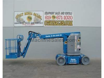 Articulated Boomlift, 36 Foot Working Height, 20 Foot Forward Reach, Zero Tailswing, Under 4 Feet Wide
