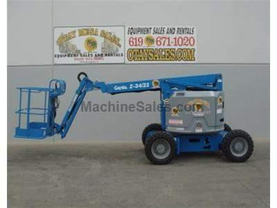 Articulated Boom lift, 40 Foot Working Height, 22 Foot Horizontal Reach, 4WD, JIB, Power to Platform