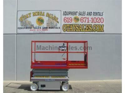 Electric Scissor Lift, Narrow 32 Inch Width, 25 Foot Working Height, Includes New Paint, New Tires