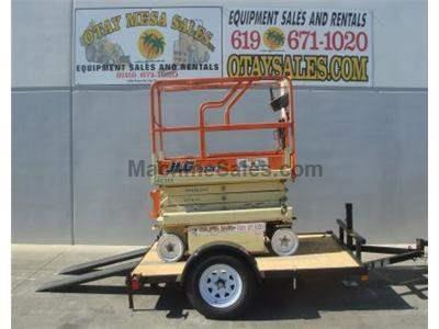 Tilt Deck Scissorlift Trailer, New and Used JLG 1932 Electric Scissor Lift (demo photos shown)
