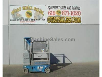 Single Man Lift, 12 Foot Platform, 18 Foot Working Height, Self Propelled, Power to Platform, 24v