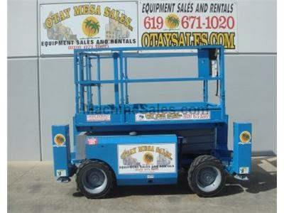 Rough Terrain Scissor Lift, 32 Foot Working Height, Deck Extension, Diesel, Power to Platform