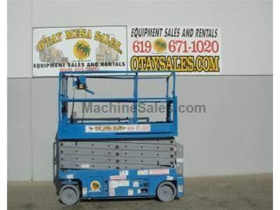 Electric Scissor Lift, 38 Foot Working Height, Deck Extension, Narrow Width, Power to Platform
