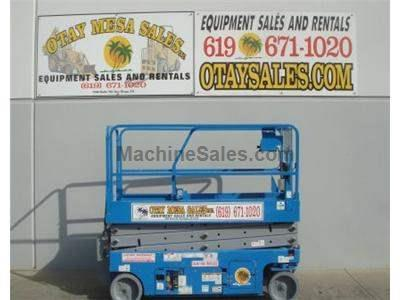 Electric Scissor Lift, 26 Foot Working Height, Narrow 32 Inch Width Fits Through Standard Doorways