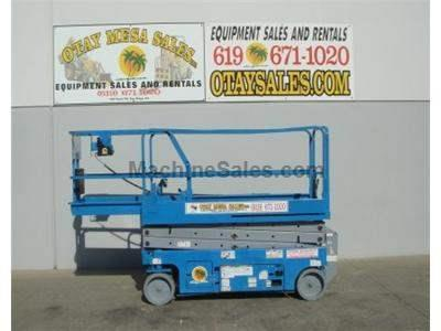 Scissorlift, Electric, 26 Foot Working Height, 20 Foot Platform, Narrow 32 Inch Width, Deck Extension