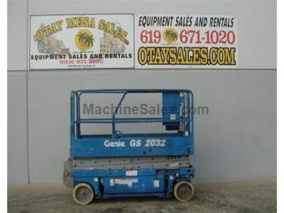 Scissor Lift, Narrow 32 Inch Width, 26 Foot Working Height, Deck Extension, Power to Platform