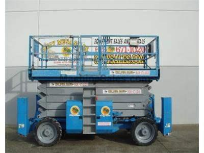 Rough Terrain Scissor Lift, 53 Foot Platform Height, 59 Foot Working Height, Dual Fuel, 4x4