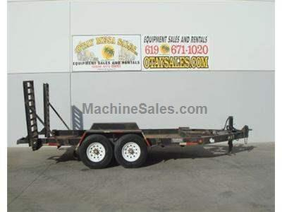 Equipment Trailer, 12000lb Capacity, 2 Axle, Air Brake, 13 by 6.5 Foot Deck, Adjustable Ramps
