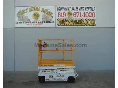 Scissor Lift, 20 Foot Working Height, 14 Foot Platform Height, Deck Extension, 24v, 670 LB Capacity