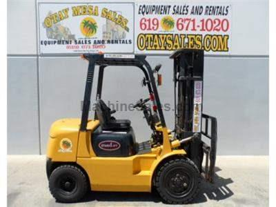 6500LB Forklift, 3 Stage, Side Shift, Diesel, Pneumatic Tires, Automatic Transmission