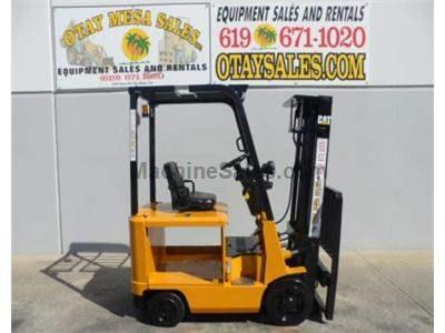 3000LB Electric Forklift, 3 Stage, Side Shift, 4 Wheel Sit Down Rider, Side Shift, 36v