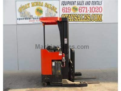 3500LB Electric Stand Up Reach Forklift, 3 Stage, 210 Inch Lift, Side Shift, 24 Volt, Includes Charger