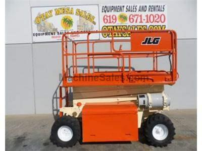 Rough Terrain Scissor Lift, 32 Foot Working Height, 26 Foot Platform Height, Dual Fuel