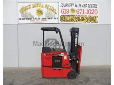 3000LB Forklift, Stand Up Electric Counter Balanced, 3 Stage, Side Shift, 36 Volt, Warrantied Battery
