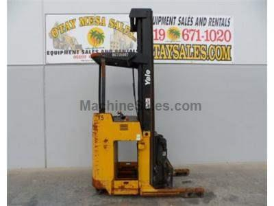 3000LB Forklift, Double Reach Electric Stand Up Forklift, 262 Inch Lift, 36 Volt