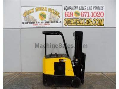 3000LB Forklift, Stand Up Electric, 3 Stage, Side Shift, 24v, Includes Charger