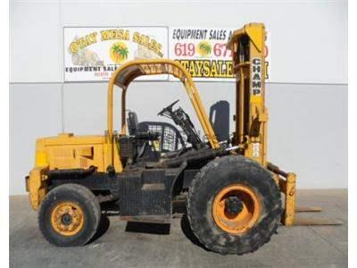 7000LB Forklift, Rough Terrain, 21 Foot Lift Height, Gasoline Engine