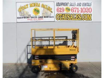 Electric Scissor Lift, 26 Foot Working Height, 20 Foot Platform, 32 Inch Width, 24 Volt System