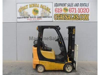 4000LB Forklift, Cushion Tire, 3 Stage, Side Shift, Propane