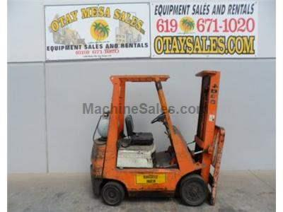 Toyota forklift. 4,000lb., cushion tire, propane, automatic.