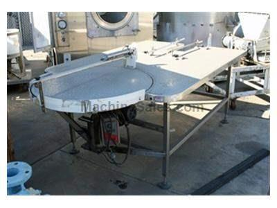 "Turntable, 36"" w/ 72"" x 56"" table and piston"